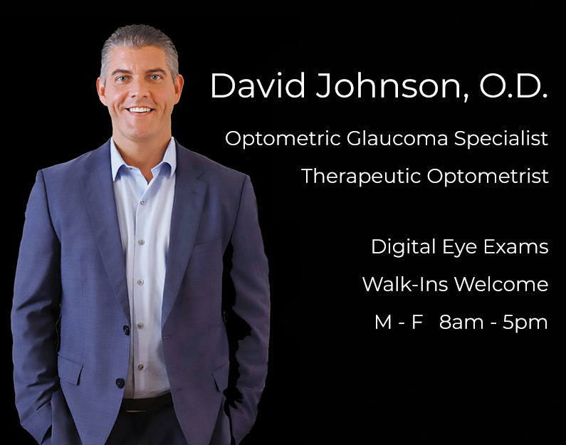 David Johnson OD tyler tx eye exams hours
